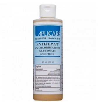 Skin Cleanser Antimicrobial 4% CHX Solution 4oz Aplicare 82286- 1 Each