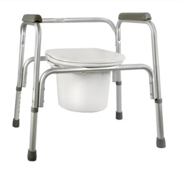 Commode Chair 3in1 with Back Padded Arms White Sunmark 1329580- 1 Each