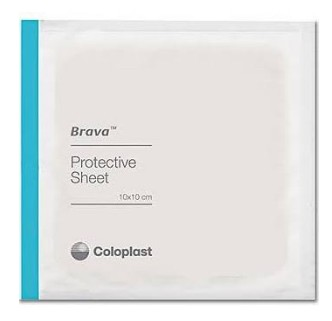 Skin Barrier Sheets 6x6 Inch Coloplast Brava Protective 32155- Box/5