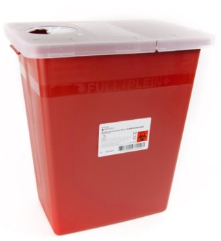 Case of McKesson Prevent Sharps Containers 8 Gallon Red 808705- CS/10