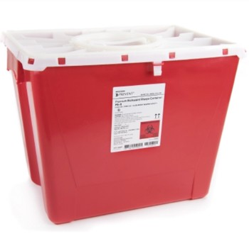 Sharps Container 8 Gallon Red McKesson Prevent PG-II 2266- 1 Each