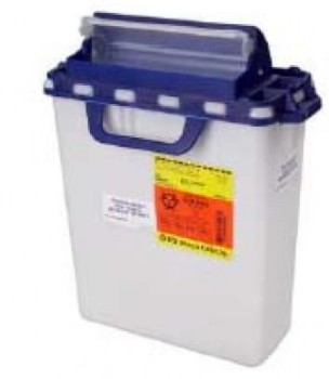 BD Pharmacy Waste Collector White and Blue 3 Gallon 305622- 1 Each