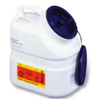 Case of BD Pharmacy Waste Container Jugs 3 Gallon BD 305633- Case/12