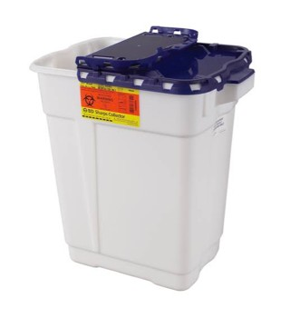 BD Pharmacy Waste Collector White and Blue 9 Gallon 305634- 1 Each