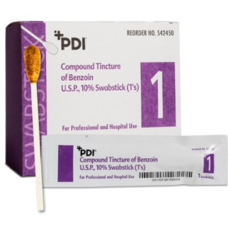 PDI Swabsticks 10% Benzoin Tincture Antiseptic Swabs S42450- 1 Each