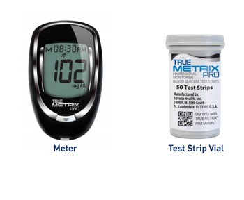 True Metrix PRO Glucose Meter with 50 Test Strips 06RE4051P00- 1 Each