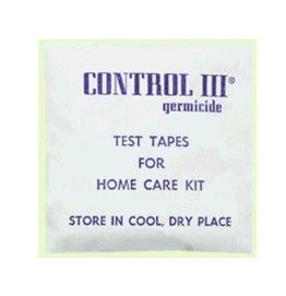 Control III Test Strips for Germicide Disinfectant C3TS1501- Pack/15