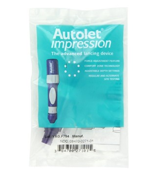 AutoLet Impression Lancing Device Bag Pack Owen Mumford AT0271- 1 Each