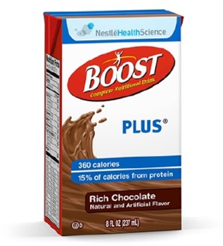 Nestle Boost Plus Oral Supplement Chocolate 8 oz 4390093238- 1 Each