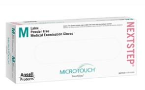 Latex Gloves Medium PF Micro-Touch NextStep Ansell 3202- Box/100