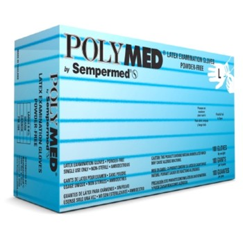Latex Exam Glove PF Small Polymed Textured Sempermed PM102- Box/100