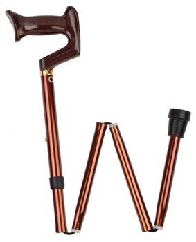 Carex Folding Cane Bronze 33-37 Inch with Molded Handle A74600- 1 Each