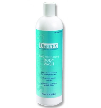 Body Wash Moist for Diabetics 16oz FNC Medical Diabet-X 40316- 1 Each