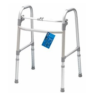 Carex Folding Walker No Wheels Single Button Adjustable A857C0- 1 Each
