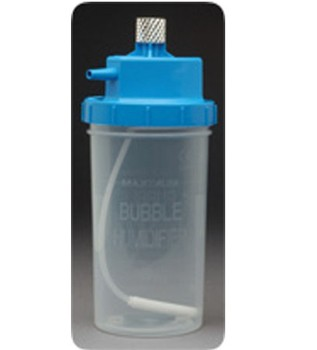 Bubble Humidifier 300mL 6LPM 3PSI Metal Nut Allied 64376- 1 Each