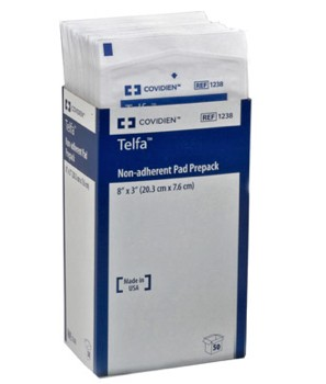 Telfa Ouchless 3x8 Inch Dressing NonAdherent Covidien 1238- 1 Each