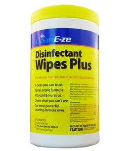 CleanE-ze Wipes Hard Surface Disinfectant Lemon Scent 200819- Can/75