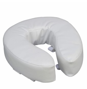 DMI Raised Toilet Seat 4 Inch Cushion White Mabis 52012471900- 1 Each