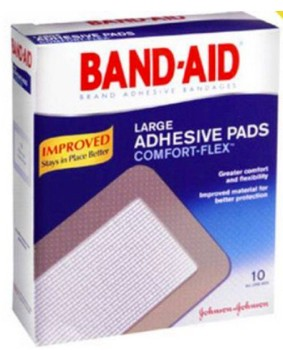 Adhesive Strip Band-Aid Comfort-Flex 2.87x4.75 Inch 1192855- Box/10