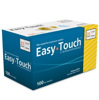 EasyTouch Insulin Pen Needles 31G 5/16 Inch MHC Medical 831061- Bx/100