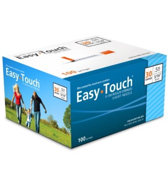 Insulin Syringe with Needle EasyTouch 0.5mL 30G 5/16 MHC 830565- Box/100