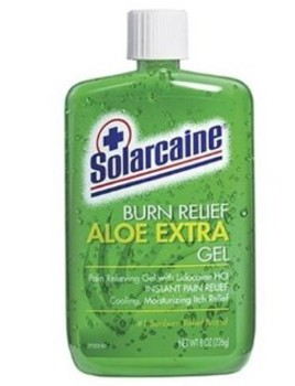 Solarcaine Burn Relief Gel Aloe and Lidocaine 8oz SEABRNR800- 1 Each