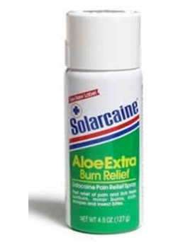 Burn Relief Spray Solarcaine Aloe and Lidocaine 4.5 oz 3647328- 1 Each