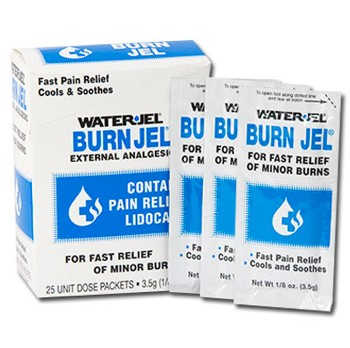 Burn Jel Packets 3.5gm Fast Burn Relief Gel Water Jel 44325- Pack/25