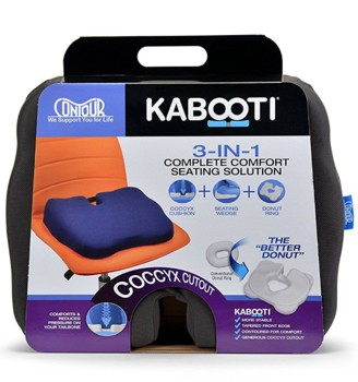 Kabooti Comfort Ring Coccyx Cushion with Blue Cover 30750B1952- 1 Each