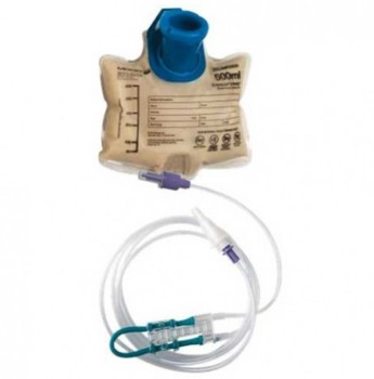 EnteraLite Infinity 500mL Feeding Pump Bag Set Moog INF0500A- 1 Each
