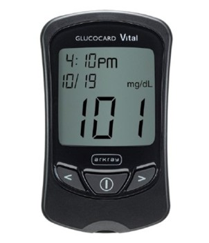 Glucocard Vital Blood Glucose Meter Kit Arkray USA 761100- 1 Each