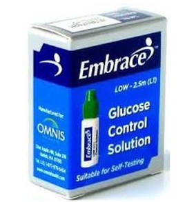 Embrace Low Flow Glucose Control Solution 2.5mL Omnis 02AB0310- 1 Each