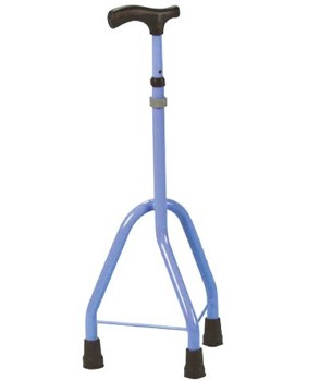 Walk Easy Tripod Cane Pediatric for Children Blue Color WLK335- 1 Each