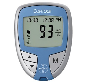 Contour Blood Glucose Meter 5 Seconds Test Time Bayer 7189- 1 Each