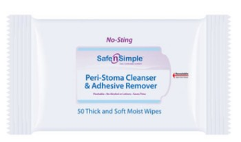 Safe N Simple Adhesive Remover Wipes Alcohol Free SNS00525- Pack/50