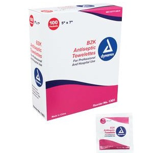 Case of Dynarex BZK Antiseptic Wipes Maternity Care 1303- Case/1000