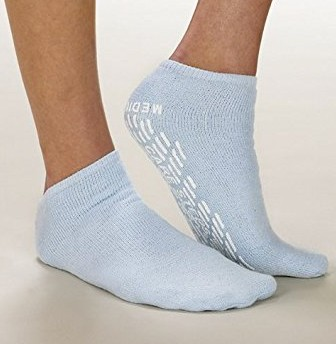 Slipper Socks Care-Steps Adult 2 X-Large Blue Alba Health 80108- 1 Pair