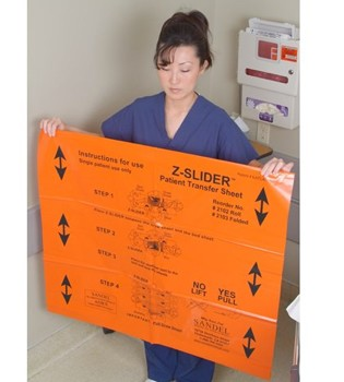 Z-Slider Patient Transfer Sheets Orange Sandel Medical 663441- Box/30