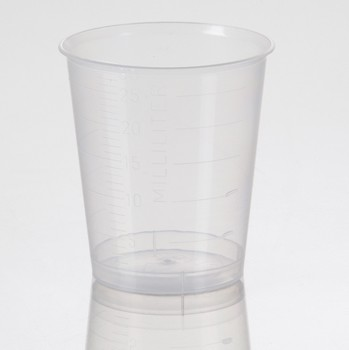 Plastic Medicine Cups 30mL Clear Graduated Health Care 5165- Pack/400