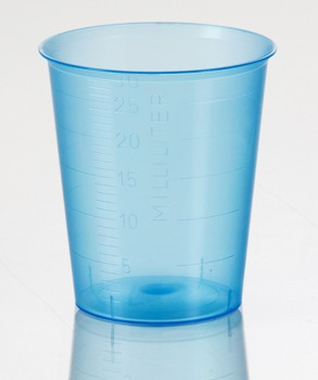 Plastic Medicine Cups 30mL Blue Graduated Health Care 5162- Pack/400