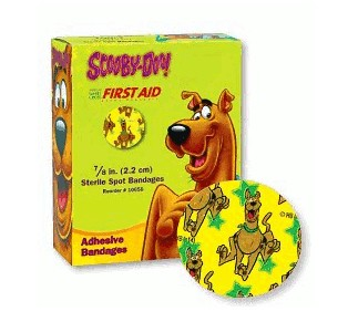 Scooby Doo Adhesive Bandages 0.87 Inch Round Dukal 10658- Box/100