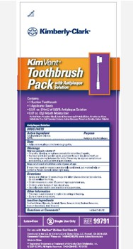 Kimvent Oral Care Suction Toothbrush Kit Halyard 99791- 1 Each