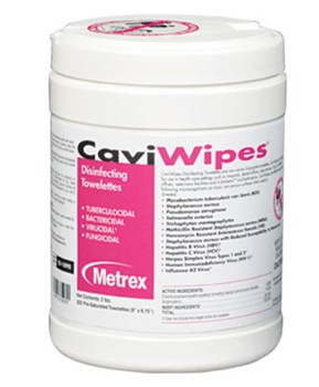 CaviWipes Disinfectant Wipes 220 Count Canister Metrex 101090- Can/220