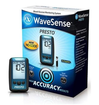 WaveSense Presto Blood Glucose Meter Kit No Code 800002649- 1 Each