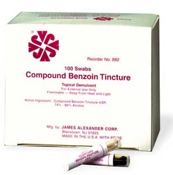JAC Benzoin Tincture Swabs Antiseptic James Alexander 882- Box/100