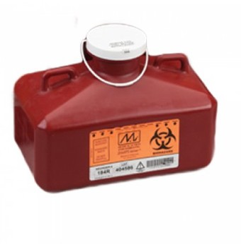Case Sharps Containers SharpStainer 4.7 Quart Rectangular 184R- CS/12