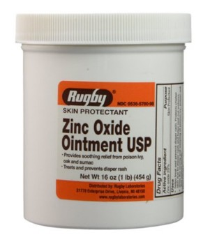 Rugby Zinc Oxide 20% Ointment 1 Lb Jar Unscented 1199512- 1 Each