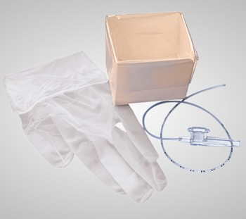 Case Suction Catheter Kits 14Fr 1 Glove Cath-N-Glove 4694T- Case/100