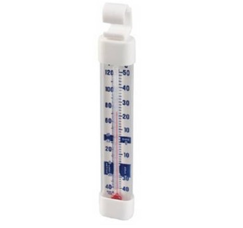 Thermometer Refrigerator Freezer -40F to 122F Non-Toxic 3010- 1 Each