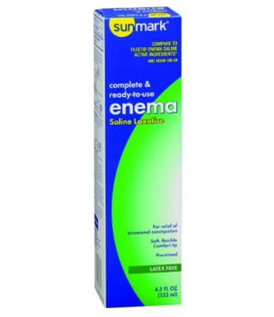 Sunmark Saline Enema 135mL Rectal Laxative for Adults 1012072- 1 Each